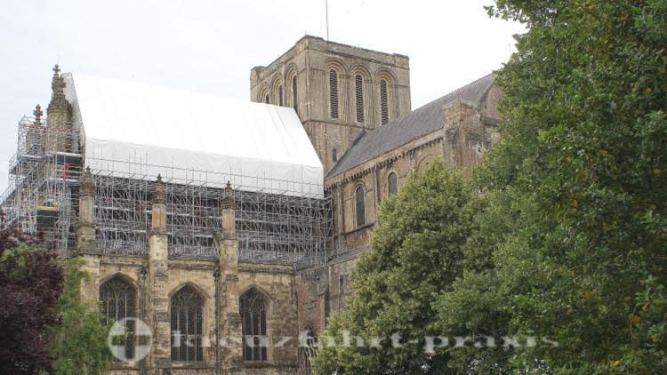 Winchester - Kathedrale - Baugerüste